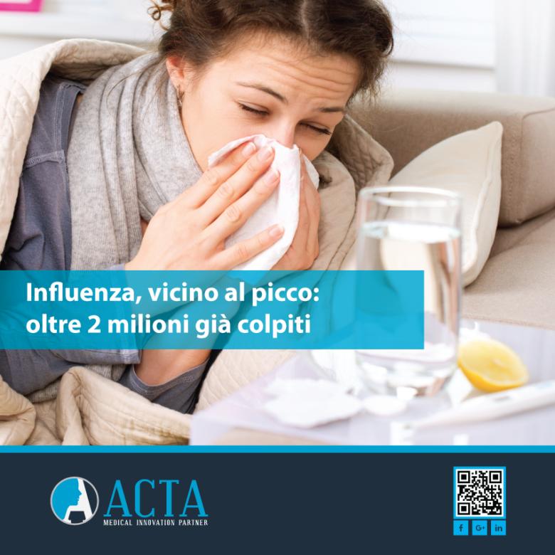 Influenza, vicino al picco: oltre 2 milioni già colpiti