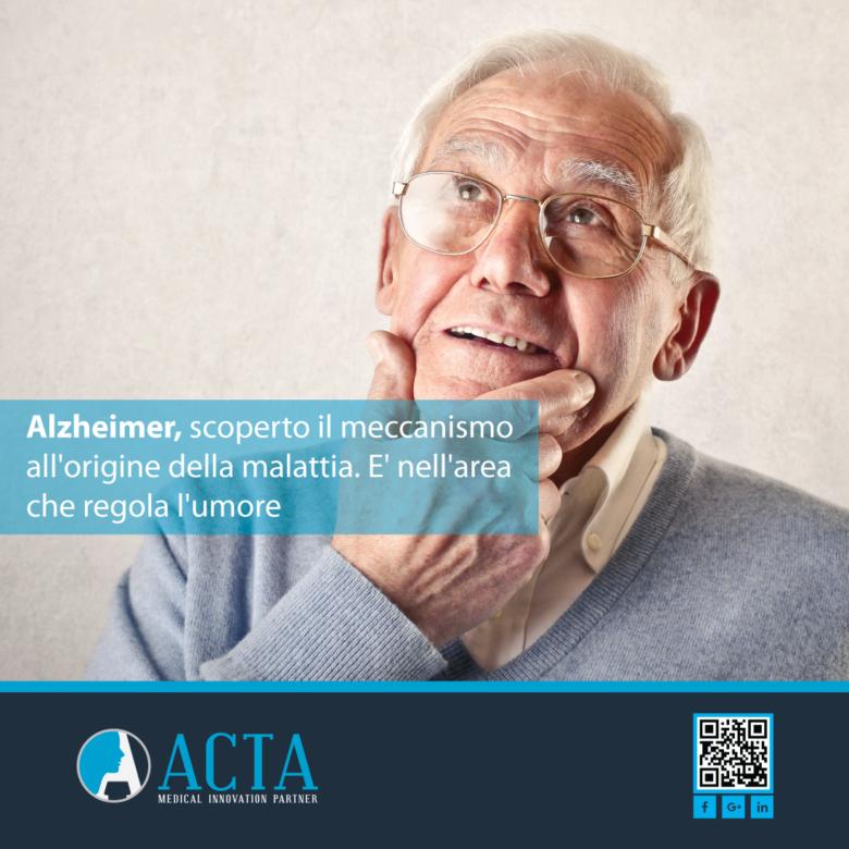 Alzheimer, scoperto il meccanismo all'origine della malattia. E' nell'area che regola l'umore