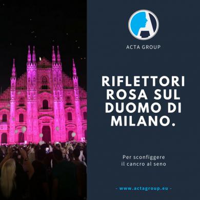 Riflettori rosa sul Duomo di Milano per sconfiggere il cancro al seno