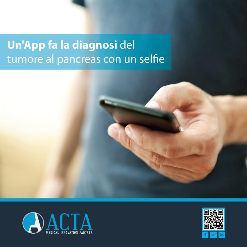 Diagnosi del tumore al pancreas con un selfie grazie ad un'app