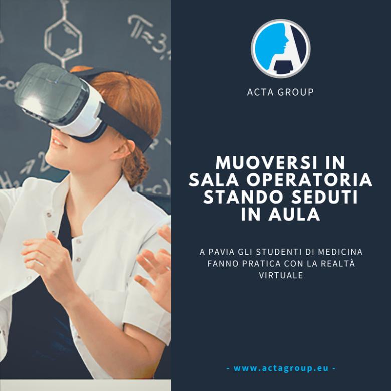 Studenti di Medicina fanno pratica con la realtà virtuale.