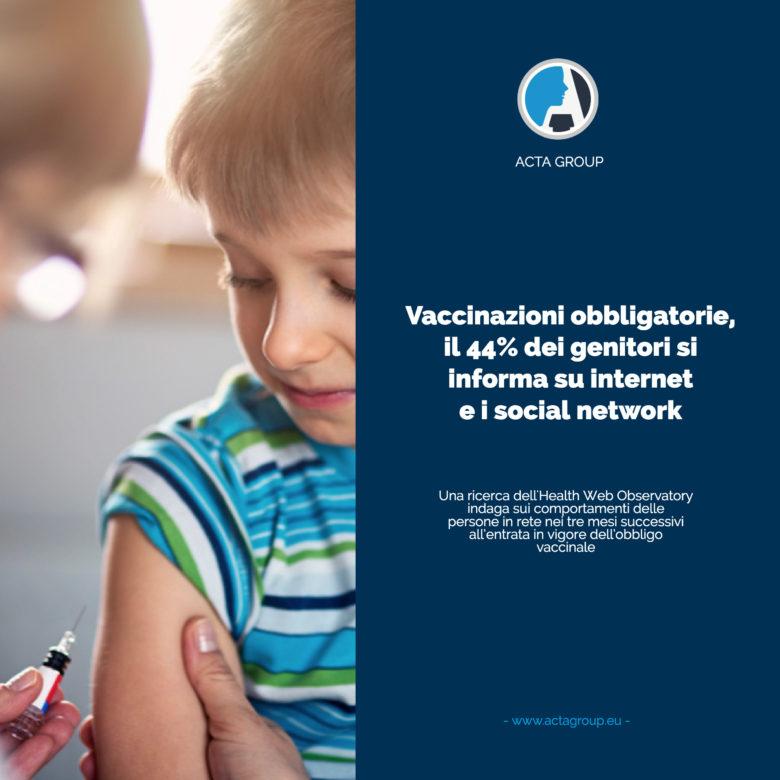 Vaccinazioni obbligatorie, il 44% dei genitori si informa su internet e i social network
